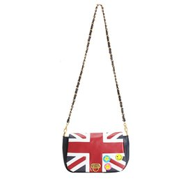 Wholesale British Vintage Leather Bag - Wholesale-2016 New Fashion Women's British Style Union Jack UK Flag Leather Handbag Shoulder Bag in Stock Vintage Messenger Bag