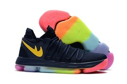 Wholesale Hot Sale Kids Summer - Hot sales KD 10 Be True blue black kids women store Top Quality Kevin Durant Basketball shoes free shipping size 36-46