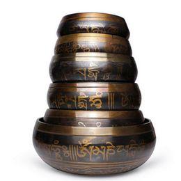 2019 кристаллы флюорита оптом Гималайская Рука Забила Чакра Медитационная Чаша Йога Тибетский Буддийский Латунь Поющая Чаша