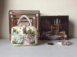 Wholesale Original Designers Handbags - Italy famous designer original Women Restoring ancient ways cowhide genuine leather blue flower 22cm handbag shoulder bag