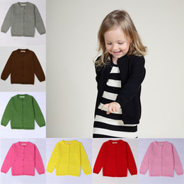 e6b3be8aa7596 Baby Knitted Cardigan Boys Girls Solid Color Sweater Children Spring Autumn Cotton  Knitwear For Kids Clothing Free DHL 429