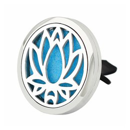 Wholesale Car Accessories Oil - Hot Sale New 38mm Silver Magnetic Stainless Steel Car Diffuser Aroma Locket Essential Oil Car Accessories