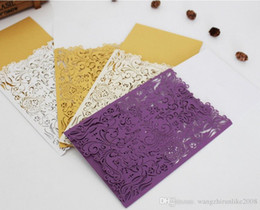 Wholesale Letter Style Wedding Invitation - Hollow out creative wedding invitations European-style wedding invitation cards invitation letters marriage supplies manufacturers hot sell