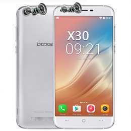 Wholesale Doogee Android - Doogee X30 Android 7.0 5.5 inch Mobile Phone MTK6580 Quad Core 2GB+16GB Cell Phone 3360mAh Battery 2Front&2Back Cameras 3G GPS Smartphone