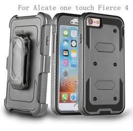 Wholesale Touch Armor - For Alcate TRU Stellar one touch Fierce 4 Allura POP 4 plus OT5056 Hybrid Armor phone Case Holster Combo Shockproof cover Belt clip