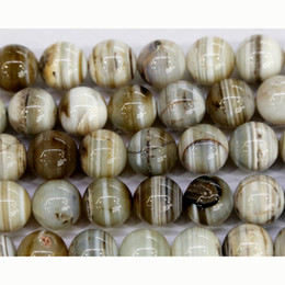 "Wholesale Natural Lace Agate - Wholesale- Discount Wholesale Natural Gray Lace Eye Agate Round Loose Stone Beads 3-18mm Fit Jewelry DIY Necklaces or Bracelets 15"" 03512"