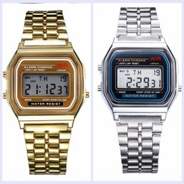 Wholesale Gold Watches Square - Retail Wholesale - Free Shipping F-91W Watches f91 Fashion -thin LED Change Watches F91 W Sport Watch
