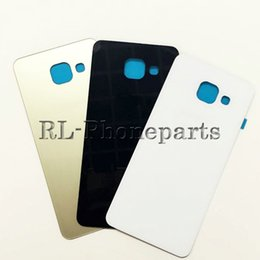 Wholesale Door Glass Sticker - 10pcs lot Original Housing Back Glass Door Cover Case With Sticker Rear Battery For Samsung Galaxy A3 A310 A5 A510 A7 A710 2016 versions