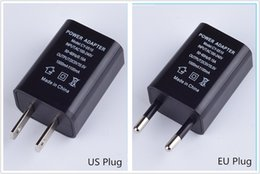 Wholesale Travel Adaptor Usb - US EU Plug USB Wall Chargers 5V1A Adapter Travel Convenient AC Power Adaptor for Samsung Sony Htc Huawei Xiaomi LG Free Shipping
