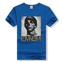 Wholesale T Shirts For Men Lycra - Fashion Personality T shirts Printed Eminem Slim Shady Short Sleeve T-Shirt Male Tee Special for Men Women