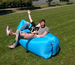 Wholesale Inflatable Sofas - Lounge Sleep Bag Lazy Inflatable Beanbag Sofa Chair, Living Room Bean Bag Cushion, Outdoor Self Inflated Beanbag Furniture DHL free