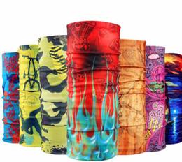 Wholesale Hiphop Fashion Stripe - Free Shipping Fashion Bandana Skull Seamless Hiphop Hijab Bandanas Headwear Scarf Magic Headband Neck Tube Ring Shawl Wrap 77