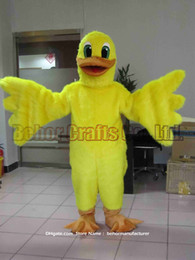 Wholesale White Duck Adult Costume - Yellow duck mascot costume free shipping, cheap high quality carnival party Fancy plush walking Yellow duck mascot adult size.