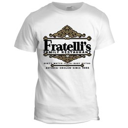 Wholesale Movie Crew - Men'S High Quality Tees Fratelli's Restaurant Inspired The Goonies 80s Retro Italian Movie Film T Shirt