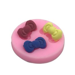 Wholesale Silicone Handmade Soap Eu - DIY 3D Bowknot Silicone Cake Mould Sugarcraft Decorating Handmade Soap Mold Resin Clay Chocolate Candy Tool AC005