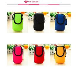 Wholesale Zip Armband - 5.5 -inch Armband Cycling Sports Running wallet with Double Zip Waterproof Outdoor Cell Phone Bag