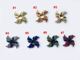 Wholesale Angle Kids - New arrival Rainbow Fidget Spinner Colorful Decompression toys 4 Angle Wings Hand Spinners Zinc Alloy Metal Tri-spinner HandSpinner toy b30