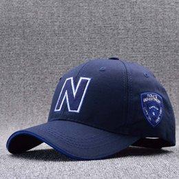 Wholesale Police Baseball Caps - 2017 Fashion N Letter Baseball Cap Police Cap for Men Bone Gorras Casquette Summer Sun Hats for Men Hip Hop Cap Chapeau Homme