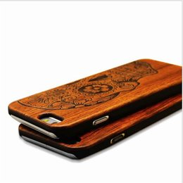 Wholesale Iphone 5s Covers Wood - Natural Brand New Wood Phone Case For iPhone 5 5S 6 6S 6Plus 7 7Plus Cover Wooden High Quality Shockproof Protector back cover