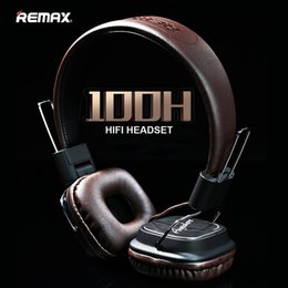 Wholesale Usb Laptop Headset - Remax Headphone Headset High Definition Microphone Stereo Earphone Leather For Laptop Phone Pad Gaming Game Deep Bass Wireless Headphones