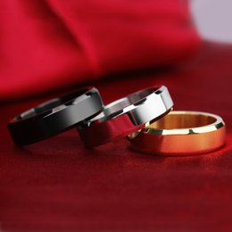 Wholesale Tungsten Wedding Rings For Women - 3 Colors Fashion tungsten rings 8MM wide Silver & gold plated wedding rings for women and men jewelry