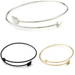 Wholesale wholesale gothic charms - Arrow opening bracelet New Fashion Bijoux Pulseiras Statement Gothic Punk Charm Open Adjustable Arrow Cuff Bracelets Bangles Women Jewelry
