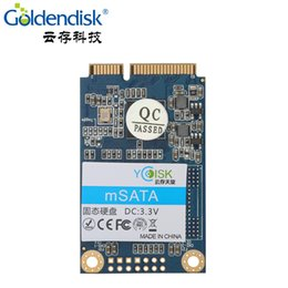 Wholesale Mini Pcie Msata - Goldendisk YCdisk Serial SSD mSATA 256GB MINI PCIE Shape 240GB 128GB 64GB 32GB MINI SATA Solid State Card 6Gb s
