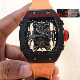 Wholesale High End Mens Watches - Automatic chain Mens watch new high-end men's watches luxury watches hollowing orange surface mechanical watch strap