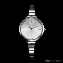 Wholesale Girls Wrist Bands - Dress women luxury brand watches Full Stainless Steel band Rose Gold Quartz wrist watch For ladies girls best gift Clocks Free Shipping