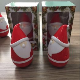 Wholesale Toy Clause - Christmas Toys Gift Tumbler Bluetooth Speaker Touch Music Playing Santa Clause 360 Rotate Cute Gifts for kids Creativity USB charging 2017