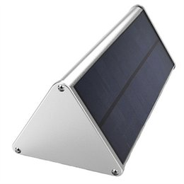 Wholesale Garden Street Iron - Outdoor Aluminium Alloy Triangle LED Solar Wall Light Garden Lamp Microwave Radar Induction 10Years Lifetime Lithium-Iron Phosphate Battery