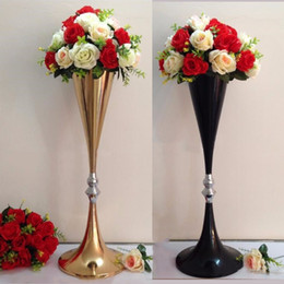 Wholesale Table Decorations For Weddings Wholesale - 70cm high New!gold wedding table flower stands flower vase for wedding table centerpieces