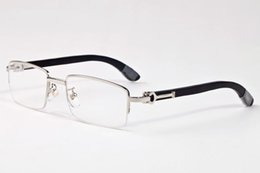 62d107cfbc3 Cool 2018 New buffalo horn glasses Hip Hop Fashion half frame rimless Brand  Designer Sunglasses Men Women Mirror Sun glasses Lady Eyeglasses