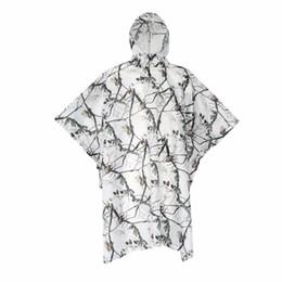 Wholesale Open Rain - Wholesale- SUBITO Outdoor Camping Raincoat Waterproof Rainwear HikingCycling Rain Poncho Camouflage Tarp Quick Opening Sun Shelter Rergola
