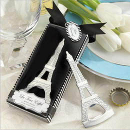 Wholesale Wholesale Eiffel Tower Party Favors - Beer Bottle Openers Tool Eiffel Tower Party Favors Stainless Steel Wedding Shower Gift Kitchen Gadgets for Wine Opener 2017