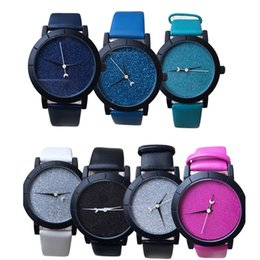 Wholesale New Korean Womens - Korean Fashion Men Womens Date Cute Leather Watch Quartz Analog Wrist Watch Gift