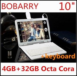 Wholesale Pc Tablet 4g Keyboard - Wholesale- 10.1 inch 3G 4G LTE tablet pc Octa core 1280*800 5.0MP 4GB 32GB Android 5.1 Bluetooth GPS tablet 10 with keyboard