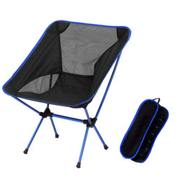Wholesale Wholesale Portable Stools - Singda Portable Folding Chair Ultralight Beach Seats for Hiking Fishing Festival Picnic BBQ Camping Stool Backrest Chair 2525002
