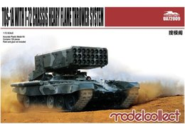 Wholesale Tank Models Toys - Wholesale- 1 72 Tank Model toy Russia army TOS-1A with T-72 chassis heary flame thrower system model building kits toy