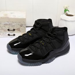 """Wholesale Gold Table Numbers - 2017 With Box Number """"45"""" """"23"""" Retro 11 Spaces Jams Basketball Shoes for Men Women Top quality Airs 11s Athletic Sport Sneakers"""