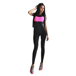 Wholesale Sexy Leotards For Women - Wholesale- 2017 New Sexy Women Jumpsuit Solid Romper for Women Exercise Round Neck Sleeveless Overalls Leotards Playsuit Sortswear Dec28