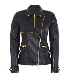 Wholesale Short Leather Jacket Woman - 2017 Hot Women European Double Layer Zipper Faux Leather Jacket Lady Motorcycle Biker Short Punk Rock Coat Outerwear