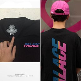 Wholesale Shorts Fashion Woman High - High-quality Men's Reflective Palace Skateboards T Shirt 100% cotton Hip Hop Palace T-Shirt women Harajuku style Palace Tee Tshirt