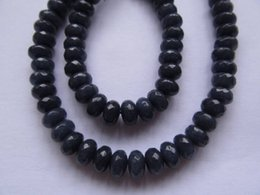 Wholesale Jade Stone Faceted Beads - 2strands 4-16mm Jade Beads, Natural Stone Beads, Jade jewelry Round rondelle faceted sapphire blue lapis blue Rainbow Loose beads