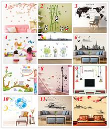 2019 статические настенные наклейки 36 стилей Новые съемные наклейки из мультфильма из ПВХ Наклейка на домашний декор Mordern Art Mural для детской гостиной