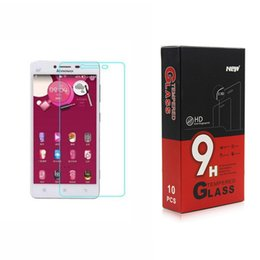 Wholesale Vibe Iphone - Lenovo Vibe S1 Lite Top Quality Tempered Glass Screen Protector for honour 7 Iphone Samsung 0.26MM 2.5D with paper packing