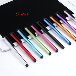Wholesale Capacitive Multi Touch Screen Stylus - 3g multi colors available colorful aluminium alloy high quality stylus pen for all Capacitive touch screen