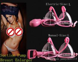 Wholesale Large Busts - Hot Selling Suction Pump Breast Enlarger Breast Enhancer Physical Enlargement Bust Massager Breast Bondage for Women