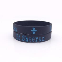Wholesale Sport Awards - Grammy Awards Ed Sheeran Silicone Wristbands Custom Silicone Bracelet For Music Fans 50pcs lot Wholesale