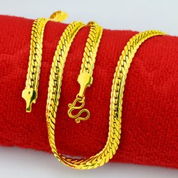 Wholesale Indian K - Cuban Link Chain 18 K Gold Plated Necklace 6 MM Gold Chain For Men High Quality Trendy Hip Hop Bling Jewelry